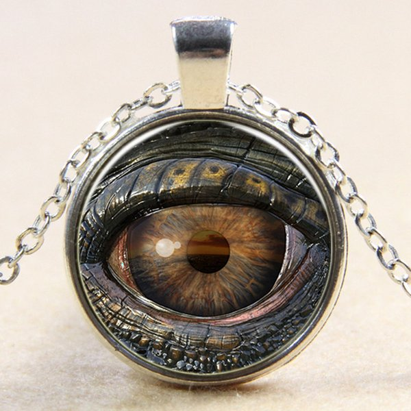 Evil Eye Necklace glass 3D Eyeball Time Gem Glass Cabochono Necklaces New designer necklace for men Women Halloween gift 160676