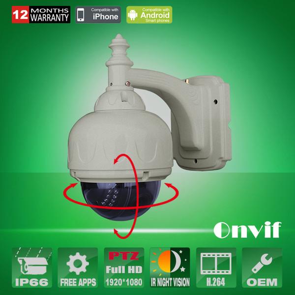 1080 P PTZ IP Kamera 25fps 22IR Açık Video Ağ Gözetim Gündüz Gece Vison IR 360 Yakınlaştırma 3-10mm Lens Güvenlik CCTV kamera