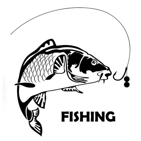 Рыба Рыбалка Мода Стайлинга Автомобилей Прохладный Графика Мотоцикл Внедорожники Бампер Окна Автомобиля Ноутбук Наклейки Наклейки Винил