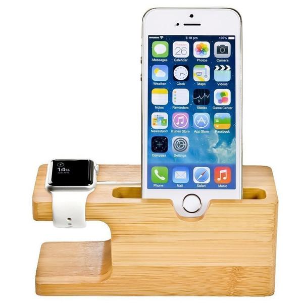 Bambus Holz Ladestation für Apple Watch Ladestation Station Ladegerät Ständer Halter für IP X 8 Dock Stand Cradle Halter