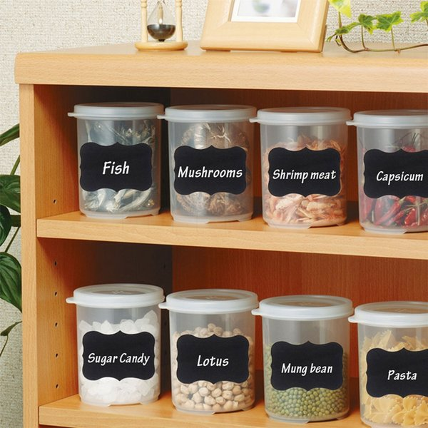 best selling sample retail 36Pcs Set Chalkboard Blackboard Chalk Board Stickers Craft Kitchen Jar Organizer Labels Chalkboard Chalk Board Stickers Black