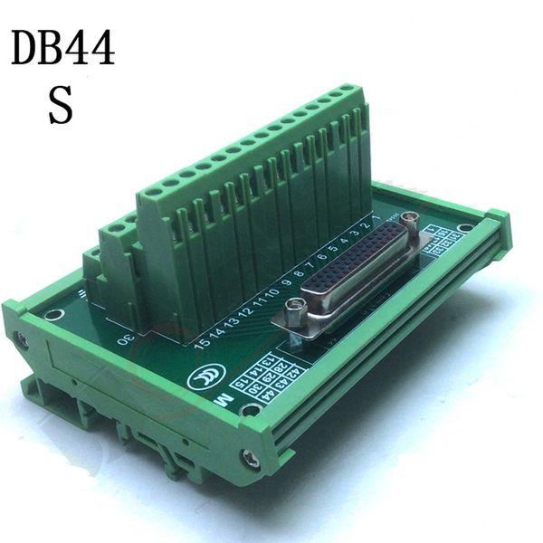 DB44 male / female terminal block breakout board D Sub Connectors DIN Rail