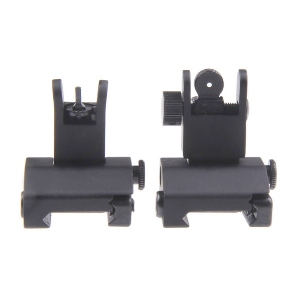 Funpowerland High quality Hunting Tactical Arms Gear Precision AR15 Airsoft Flip Up Front and Rear Back up Iron Sight Free Shipping