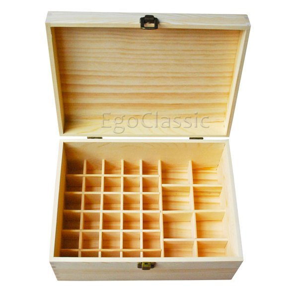 Handmade Multifunctional wooden Essential Oils Boxes 38 holes Green natural pine true nature of wood without paint Environmentally friendly