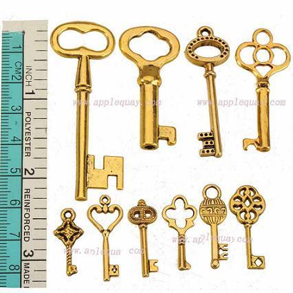 fai da te anti charms in oro gioielli risultati bracciali per donna uomo ciondoli collane chiavi miste grande piccolo cuore in metallo moda 200 pz
