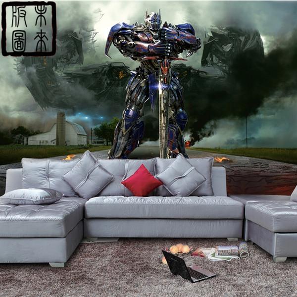 Delightful Transformers Wallpaper 3D Ansicht Tapete Optimus Prime Fototapete  Individuelle Film Raum Dekor