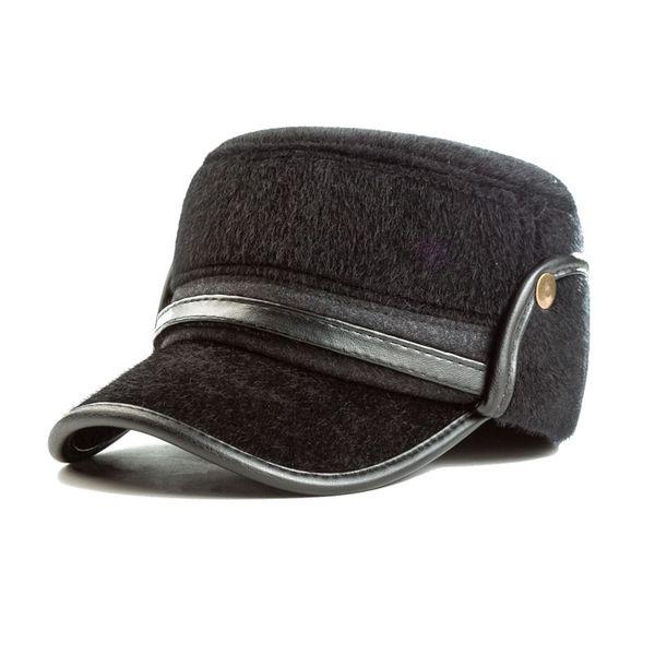 Gorra de béisbol de invierno Sombreros planos de piel sintética de los hombres con Earflaps Nuevo Snapback Sombreros de papá caliente Casquette Bone Dad's Father's MX17244
