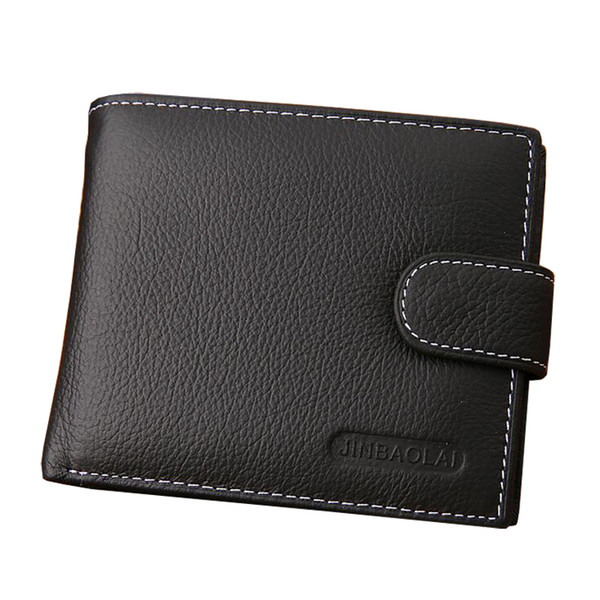 High-grade Genuine Leather Wallets For Men Business Style Ultra-thin Bifold Men's Short carteira Multi-functional Cool Male Money Clip Purse