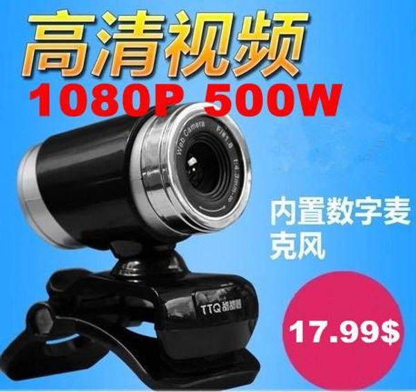 1080 P 500 W USB 2.0 HD Webcam Kamera Web Kamera Dijital Video Webcamera Bilgisayar PC Laptop için Mikrofon MIC ile ücretsiz kargo