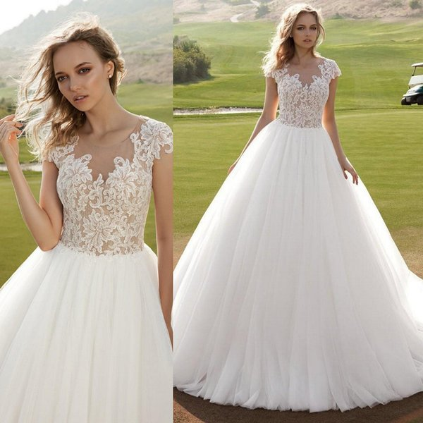 Discount Robe De Mariage 2018 Vintage Wedding Dress Tulle A Line ...