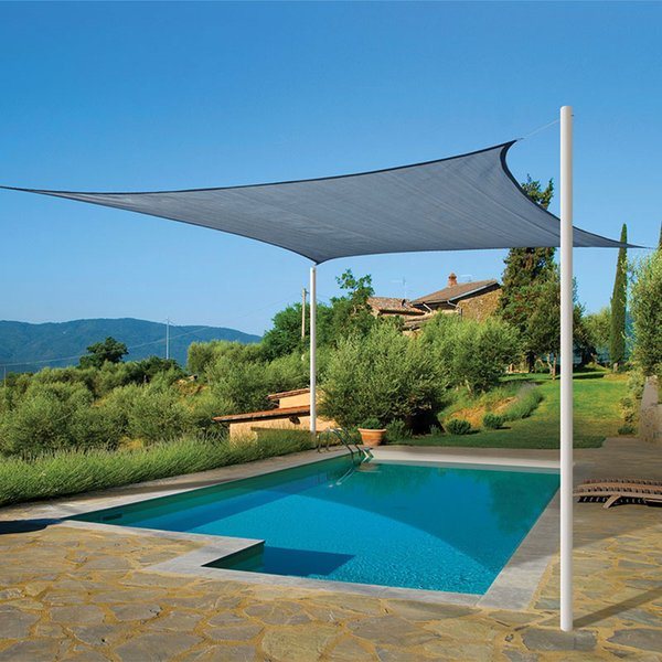 Rectangle Outdoor Shade Sail 95% UV Protection Pool Garden Canopy Cover New Size 3M* & Rectangle Outdoor Shade Sail 95% UV Protection Pool Garden Canopy ...