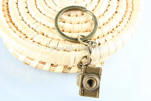 camera key ring camera keychain with swivel clasp Keychain antique jewelry steampunk gift keychain monkey ring nut