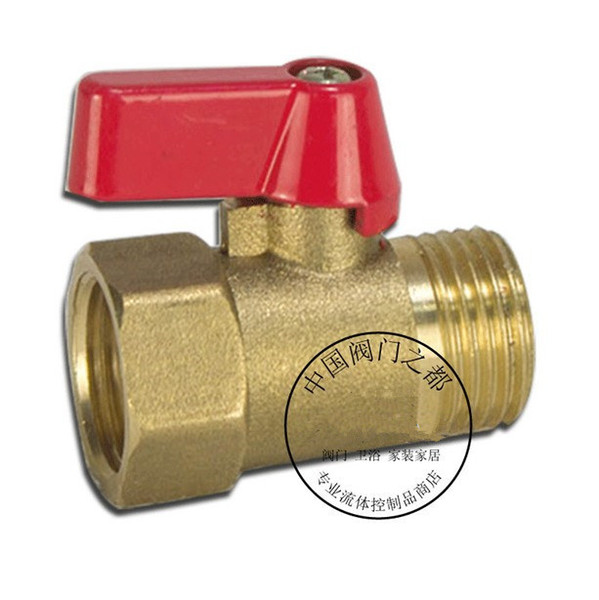 "top popular Free shipping Size-1 2"" DN15 Brass Plumbing Pipe Fittings Inside and outside whorl ball valve Hot and cold water valve gasoline liquid valve 2021"