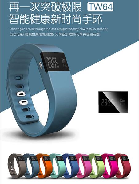 Nuovi IP67 Smart Wristbands TW64 bluetooth activity tracker smartband wristband pulsera orologio da polso non fitbit flex fit bit