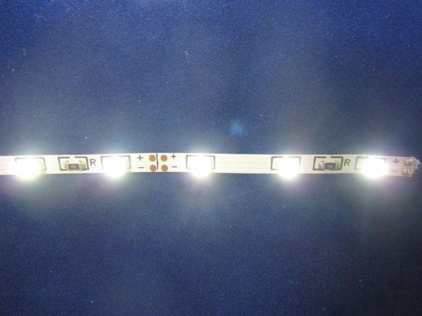 Luz de tira del LED 335 SMD 48led / m 12V 5m / Nos, color blanco 5MM tablero del PWB ancho luz de tira impermeable