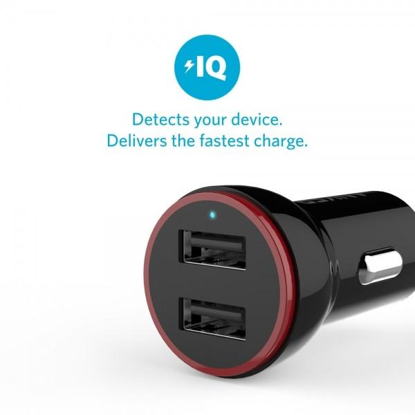 top popular Anker with CE certification car charger 2.4 A new double USB universal car charger gift car charger 2021