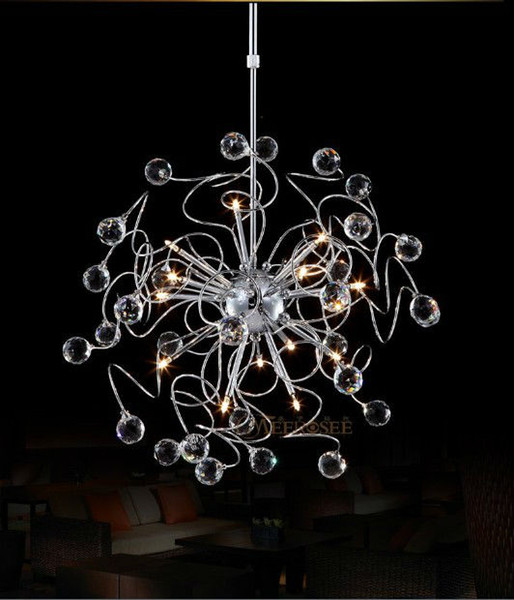 Fast Shipping Floral K9 Crystal Pendant Lamp With G4 Lights MD8492 Crystal Suspension Hanging Light