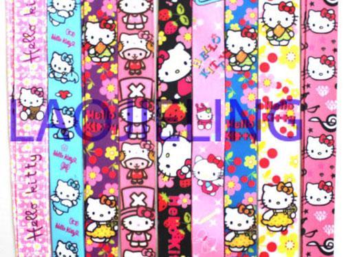NOUVEAU gros 20 pcs mix bonjour kitty téléphone mp3 / 4 sacs lanières lanière accessoires de téléphone livraison gratuite