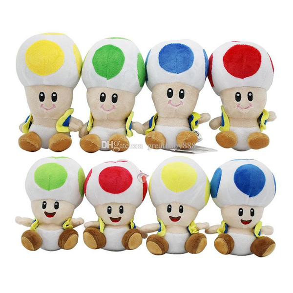 17cm/7 inch Super Mario Plush toys cartoon Super Mario Mushroom head Stuffed Animals for baby Christmas gift C3325