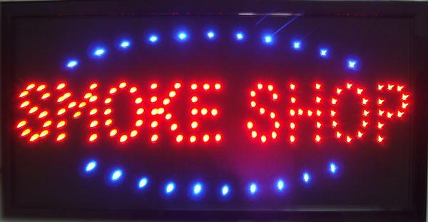 Venda quente personalizado levou loja de fumaça assina luzes de néon de Plástico PVC frame Display semi-ao ar livre tamanho 48 cm * 25 cm