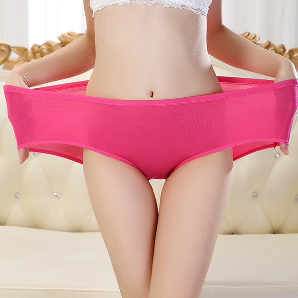 0efcf8903d 2015 New Women Underwear The Big Code Female Bamboo Fiber Mommy Briefs  Waisted Ladies Underwear Wholesale
