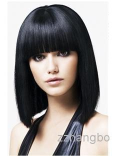 Parrucche piene del merletto Parrucche piene del merletto dei capelli vergini della Malesia 100% senza giunte Colore dritto dei capelli dei capelli neri può adattarlo Vendita diretta della fabbrica