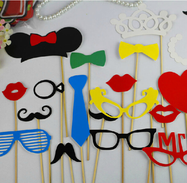 Funny Photo Booth Props 23pcs/lot Wedding Decorations Red Funny Lips 2014 New Arrival Wedding Birthday Christmas Party Party Photo Props