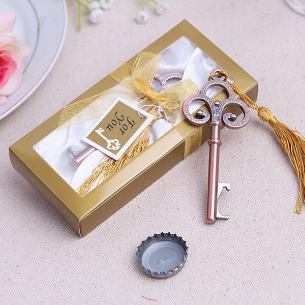 Cheap antique skeleton key bottle opener for unique wedding party favors 50pcs lot in bulk free shipping