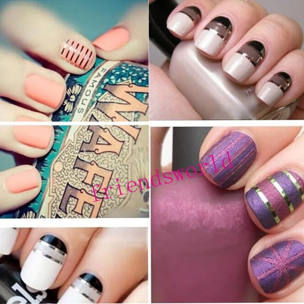 top popular Free Shipping Nail Art Tool Decoration Stickers Decals nail tools Fashion 10 Metallic Yarn Line Mix Color Rolls Striping Tape 2019