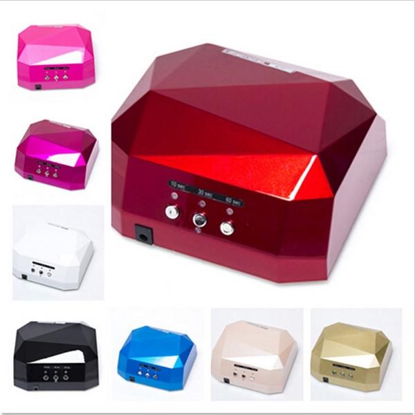 Heißer Verkauf Nageltrockner LED uv lampe 36 watt 110-220 V gel nagel maschine Rautenförmigen für UV Gel Nagel EU, Us-stecker