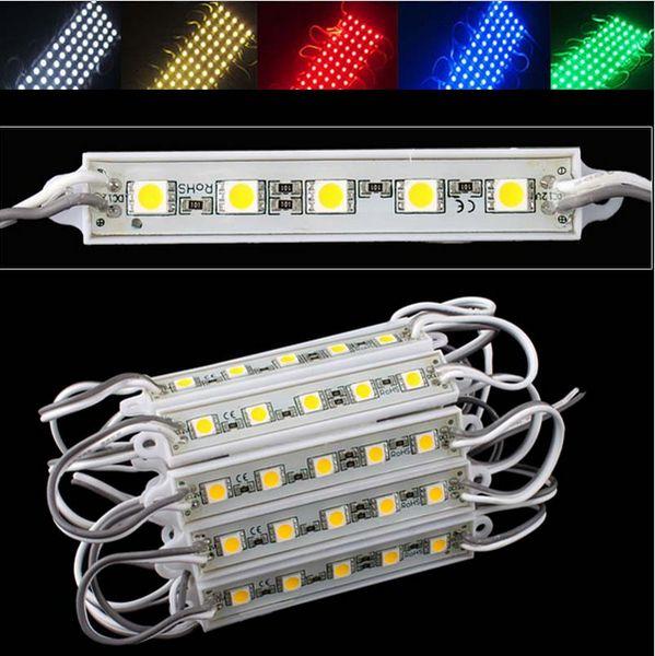 5-LEDS SMD 5050 LED Module Waterproof IP65 DC12V LED Backlight Advertisement Design LED Modules Lighting Free Shipping