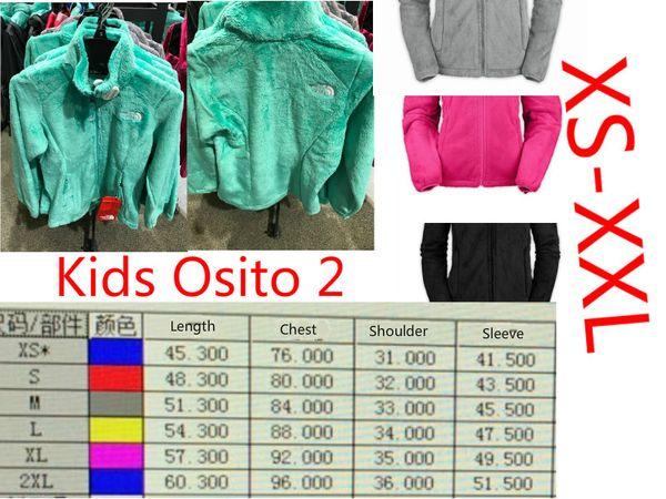 top popular 2018 Kids Boys and Girls Fashion outdoor Climbing hiking warmv Outwear Children's Zipper Fleece Osito Jacket 2019