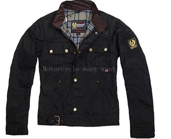 baxianhua / Wholesale-steve Man Jacke Motorradjacke Herrenwachs Oberbekleidung Top-Qualität Die Roadmaster Jacke