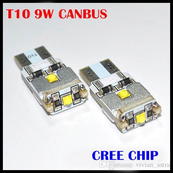 2x T10 W5W 168 194 CANBUS No ERROR CREE Chip LED Car Auto DRL Replacement Clearance Light Parking Bulbs Lamps Car Light Source
