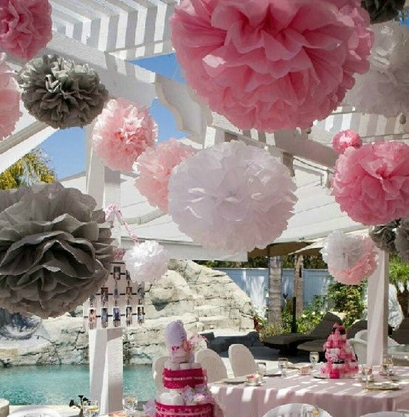 Tissue paper flowers hanging balls coupons promo codes deals 2018 29 colors available paper ponpon rose ball garlands party decorations 12 inch 12pcs lot tissue orange paper pom poms flower mightylinksfo