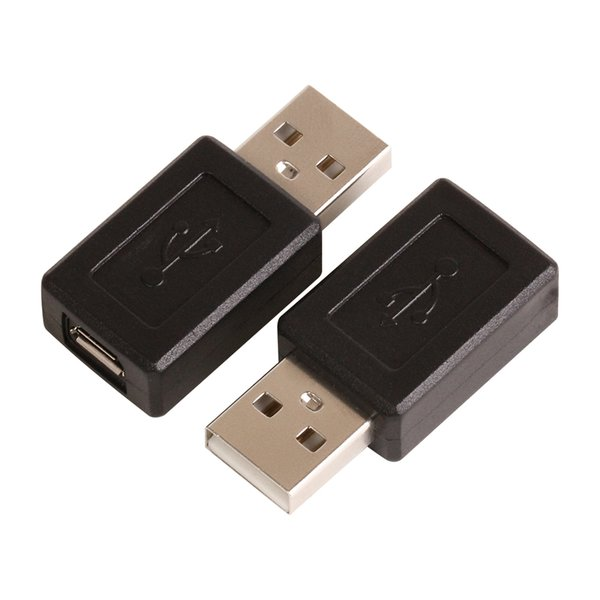 Wholesale 100pcs/lot USB A Male to Micro USB B Female data cable adapter Connector converter Free shipping