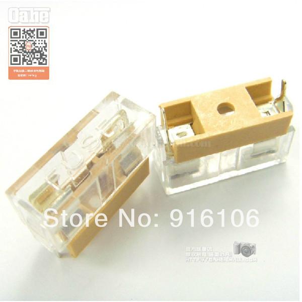best selling Wholesale-10PCS Fuse holder with Transparent lid 5*20 FUSE Glass ceramic tube fuse fuse box