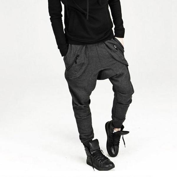 best selling New Mens Drop Crotch Pants Baggy Hip Hop Sweatpants Trousers, Korean Harem Pants Joggers Outdoors Bandana Sport Pants