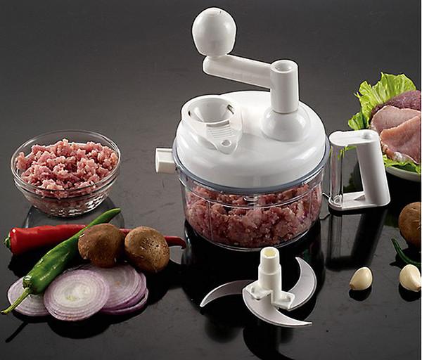 Livraison Gratuite MultiFunction Manuel Robot De Cuisine Déchiqueteuse Manuel Ensemble Ménage Fruits Grinder Main Viande Hachoir Légumes Cutter Blender