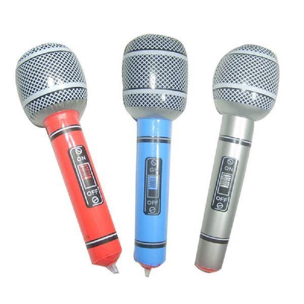 Neue Aufblasbare Mikrofon Sprengen Singen Party Zeit Rockstar Disco Spielzeug Kinder Geschenk Party Supplies