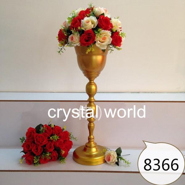 Wedding decoration mental flower vase Centerpieces For Wedding 16 Table