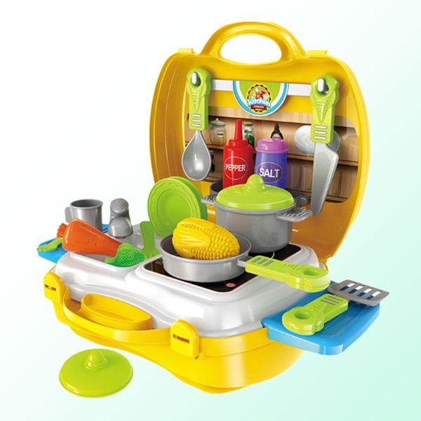 Wholesale- Kitchen Toys Set Case Box Kids Handle Storage Educational Learning Interactive
