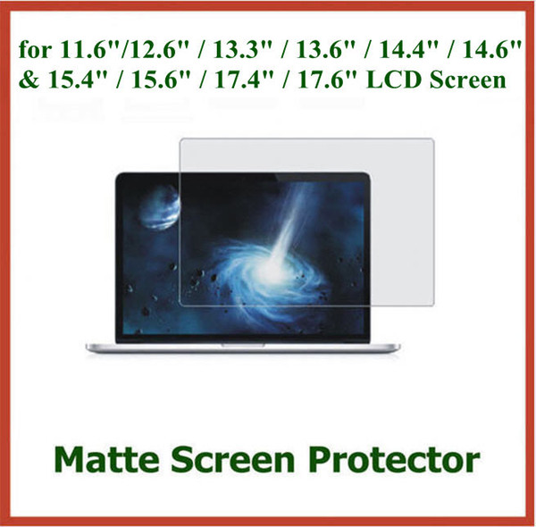 "best selling 500pcs Anti-glare Matte Screen Protector for 11.6"" 12.6"" 13.3"" 13.6"" 14.6"" 15.6"" 17.4"" 17.6"" Laptop LCD Screen Protective Film"