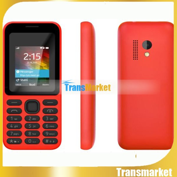 "Cell Phone for Old People Newest Big Button 1.8"" Inch Black Orange Display GSM Dual SIM Bluetooth Email MP3 FM Radio SOS 215I"