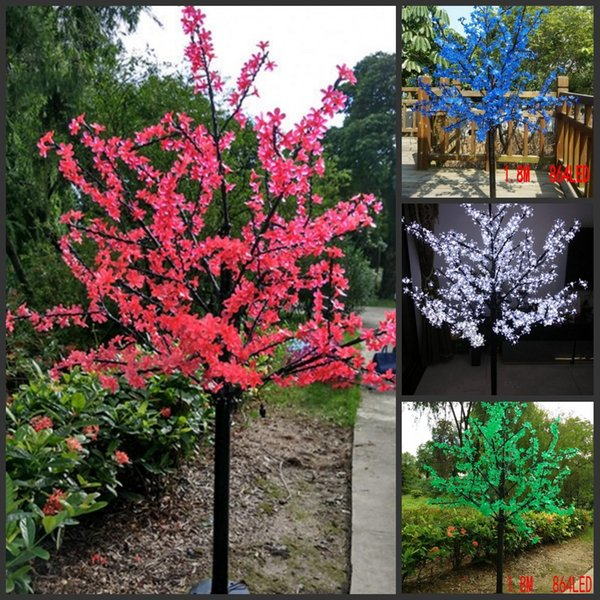 LED Artificial Cherry Blossom Tree Light Christmas Light 864pcs LED Bulbs 1.8m Height 110/220VAC Rainproof Outdoor Use Free Shipping