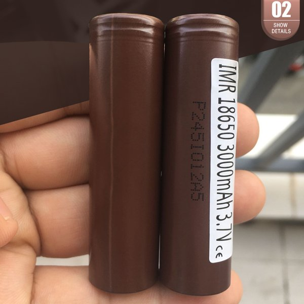 best selling Quality 18650 Battery HG2 3000MAH 30A Max Rechargeable Lithuim Batteries PK VTC5 VTC4 VTC3 18650 Battery Fedex Free Shipping
