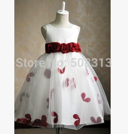 2018 Colors Hot sell Flower girl dress for Wedding Party Elegant gown 3-12 ages designer flower girls gowns girls flower dress