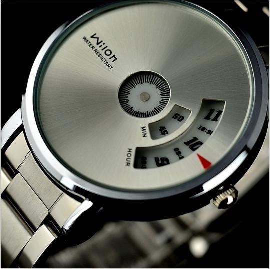 Erkekler saatler kuvars hareketi su geçirmez Orijinal Veyron Wilon moda hakiki çelik kayış Turntable Dial kuvars İzle serseri erkek saat