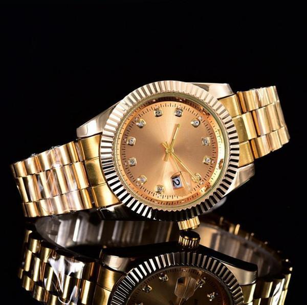 relogio masculino diamant mens montres mode noir Cadran Calendrier or Bracelet Fermoir Fermoir Maître Male 2022 cadeaux couples