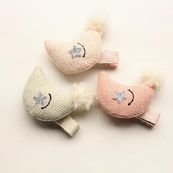 2017 New Girls Fashion Hair Clips 8pcs/lot Delicated Modish Girl Prince Moon Hair Clip Cute Kids Hairpins